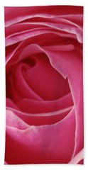 Pink Rose Dof Beach Towel