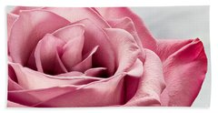 Pink Rose Macro Beach Sheet