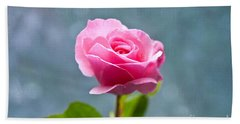 Pink Rose Beach Towel