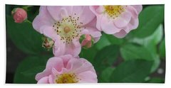 Pink Roses Beach Towel by HEVi FineArt