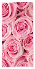 Pink Roses Beach Sheet by Munir Alawi