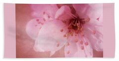 Pink Spring Blossom Beach Sheet by Ann Lauwers