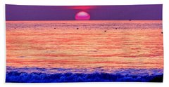 Pink Sun Beach Towel