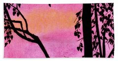 Beach Towel featuring the drawing Pink Sky Sunset by D Hackett