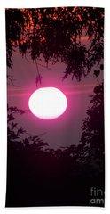 Pink Sunrise Breast Cancer Awareness Beach Towel