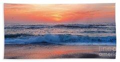 Pink Sunrise Panorama Beach Towel by Kaye Menner