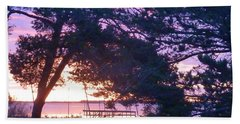 Pink Sunrise Beach Towel