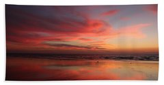 Ocean Sunset Reflected  Beach Sheet