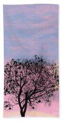 Beach Towel featuring the drawing Pink Sunset by D Hackett