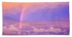 Pink Sunset Rainbow Beach Towel