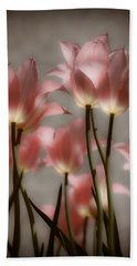 Pink Tulips Glow Beach Sheet