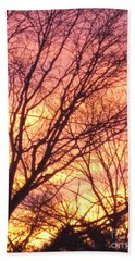 Pink Twilight Beach Towel