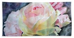 Pink Yellow Rose Angela Beach Towel