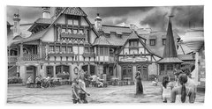 Beach Towel featuring the photograph Pinocchio's Village Haus by Howard Salmon