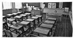 Pioneer Classroom Black And White Beach Towel