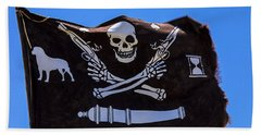 Pirate Flag With Skull And Pistols Beach Towel