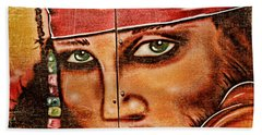 Beach Towel featuring the photograph Pirate Seduction by Toni Hopper
