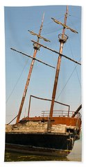 Beach Towel featuring the photograph Pirate Ship Or Sailing Ship by Sue Smith