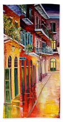 Pirates Alley By Night Beach Towel