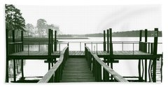 Pirate's Cove Pier In Monochrome Beach Towel