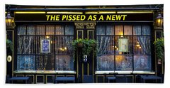 Pissed As A Newt Pub  Beach Towel