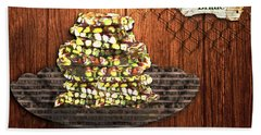 Pistachio Brittle Beach Towel