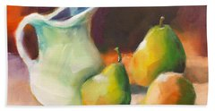 Pitcher And Pears Beach Towel