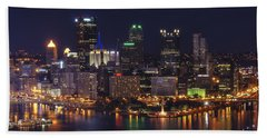 Beach Towel featuring the photograph Pittsburgh After The Setting Sun by Michelle Joseph-Long