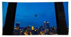 Pittsburgh Skyline At Night Beach Towel