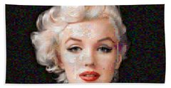 Pixelated Marilyn Beach Towel