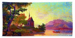 Beautiful Church, Place Of Welcome Beach Sheet by Jane Small