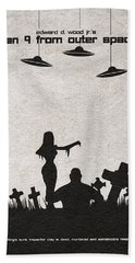 Plan 9 From Outer Space Beach Towel