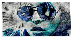 Platinum Blondie Beach Towel by Absinthe Art By Michelle LeAnn Scott