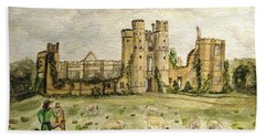 Plein Air Painting At Cowdray House Sussex Beach Towel
