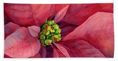 Plum Poinsettia Beach Sheet