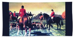 Beach Sheet featuring the photograph Plum Run Hunt Opening Day by Angela Davies