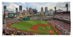 Pnc Park 2014 Beach Sheet by Emmanuel Panagiotakis