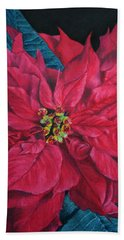 Poinsettia II Painting Beach Sheet