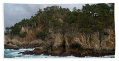 Point Lobos Coastal View Beach Sheet