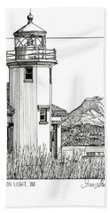 Point Robinson Light Beach Sheet by Ira Shander