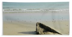 Pointed Rock At Squibby Beach Towel by Kathy Barney