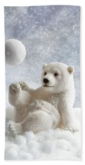Polar Bear Decoration Beach Towel