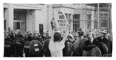 Poll Tax Riots London Beach Towel