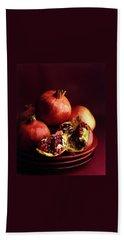Pomegranates Beach Towel by Romulo Yanes