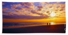 Ponce Inlet Fl Sunrise  Beach Towel