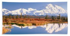 Pond, Alaska Range, Denali National Beach Towel