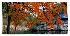 Fall At Lost Maples State Natural Area Beach Towel