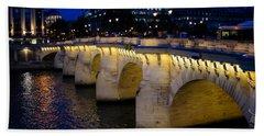 Pont Neuf Bridge - Paris - France Beach Towel