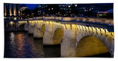 Pont Neuf Bridge - Paris - France Beach Sheet