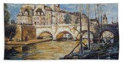 Pont Neuf Paris Beach Sheet